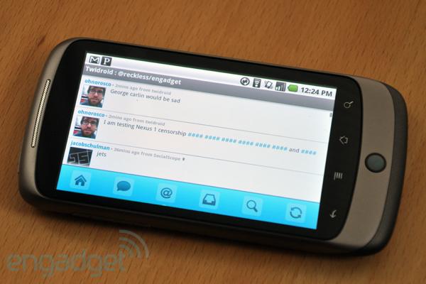 Nexus One : le voice-to-text censuré !