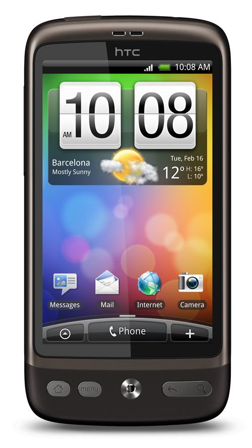MWC 2010 : HTC Desire officiel avec plus de détails