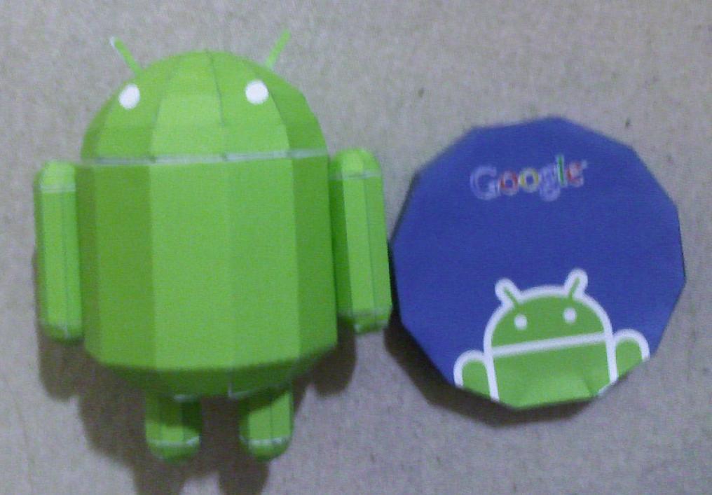 Créer un Android en paper toy, c'est possible !