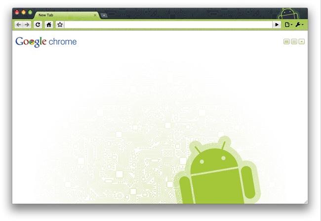 Google Chrome aux couleurs d'Android