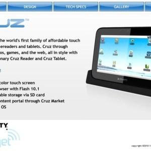 La Velocity Micro Cruz, un prototype de tablette sous Android 2.1