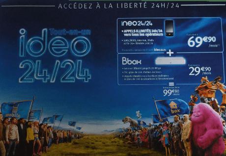 Ideo 24/24, l'offre quadri-play de Bouygues Télécom annoncée