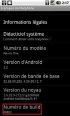 (MàJ) Nexus One : Une nouvelle mise à jour Android 2.2 – FRF83