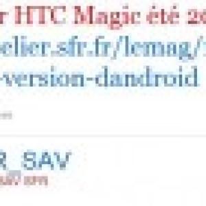 SFR : HTC Magic et Nexus One mise à jour sous Android 2.2 «Froyo» cet été !
