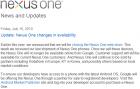 La vente libre des Nexus One arrive à terme chez Google
