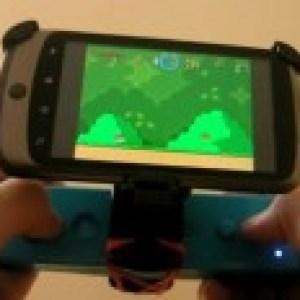 Nexus One + Wiimote + Support Vélo + Élastique = Console SNES ;)