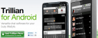 Trillian Beta : Le client de messagerie instantanée sur Android