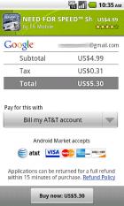 L'Android Market supporte une nouvelle méthode de paiement et de nouvelles catégories