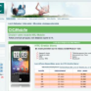 Le HTC Gratia en blanc au CIC et au Crédit Mutuel