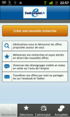 Cadremploi sort son application Android