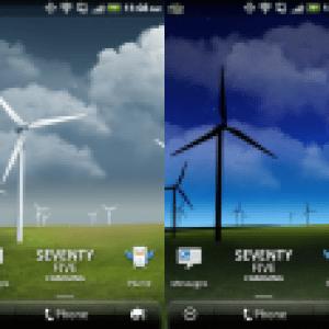 Deux fonds d'écran animés du Samsung Galaxy S II