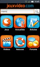 L'application JeuxVidéo.com disponible sur Android.