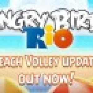 Mise à jour d'Angry Birds Rio avec de nouveaux niveaux : ils font du beach volley !