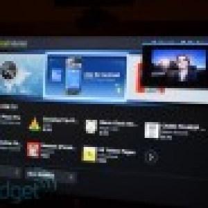 Des photos de l'interface de la Google TV sous Honeycomb
