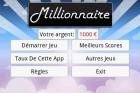 Les applications Android du jour :  Millionnaire, Go Namecard et CineShowTime