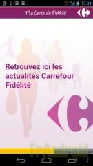 Test de l'application Carrefour Fidélité
