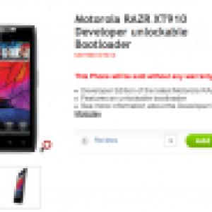 Motorola annonce le RAZR Developer Edition avec bootloader déverrouillé