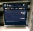 Le LG Nexus 4 à 485€ (£389,95) sans abonnement en Angleterre