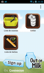 Out Of Milk, la liste de courses sur smartphone