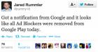 Google retire les solutions anti-pub du Play Store