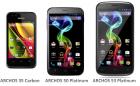 Archos officialise ses smartphones «Platinum» et «Carbon»