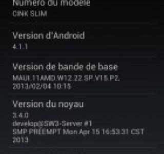 Le Wiko Cink Slim croque la mise à jour d'Android 4.1 Jelly Bean