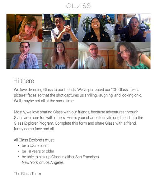 Google Glass Explorer étend sa communauté de participants