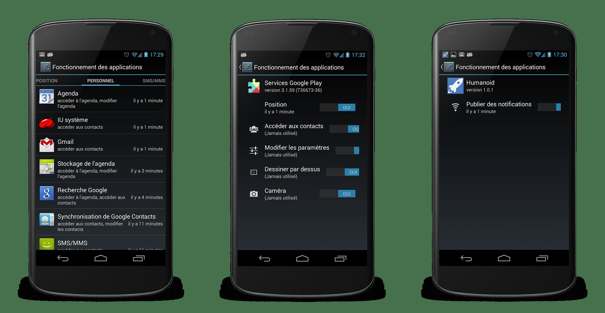 App Ops : un écran caché d'Android 4.3 permettant de modifier les permissions des applications