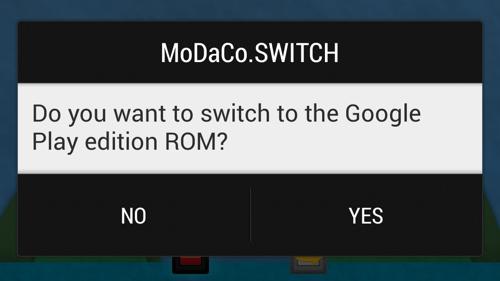 Galaxy S4 : MoDaCo.SWITCH fera cohabiter Android Stock et TouchWiz