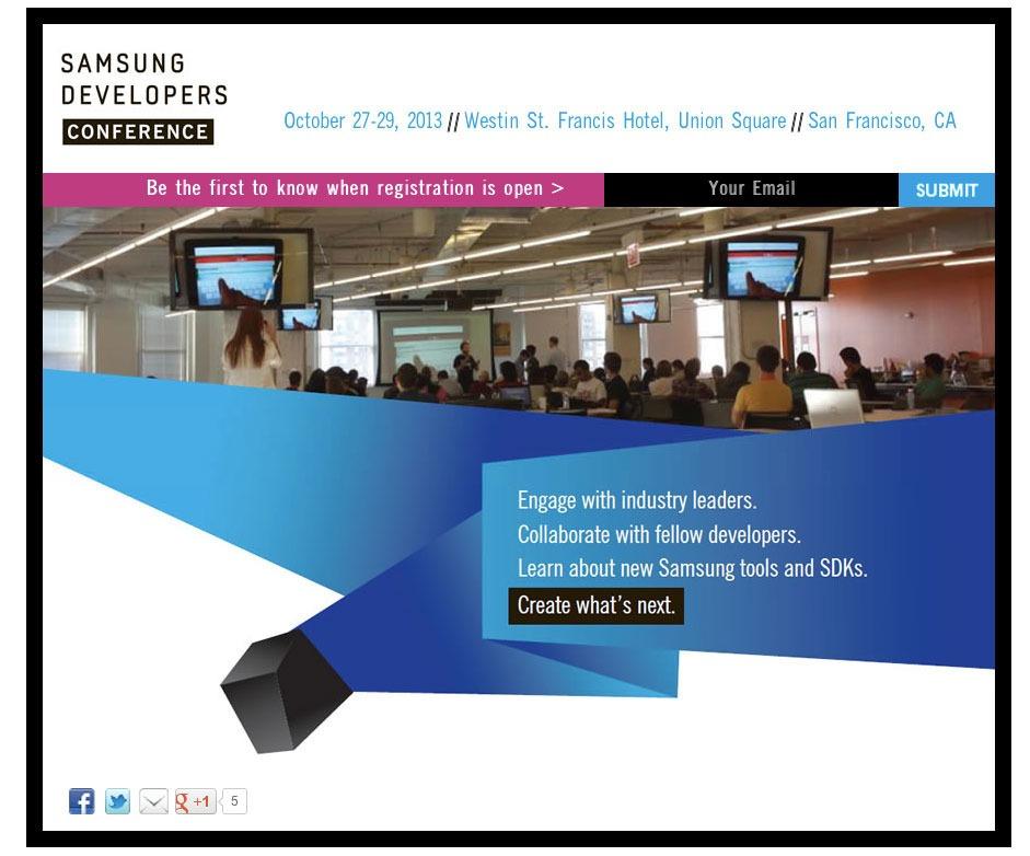 Samsung tiendra sa propre conférence développeurs en octobre prochain