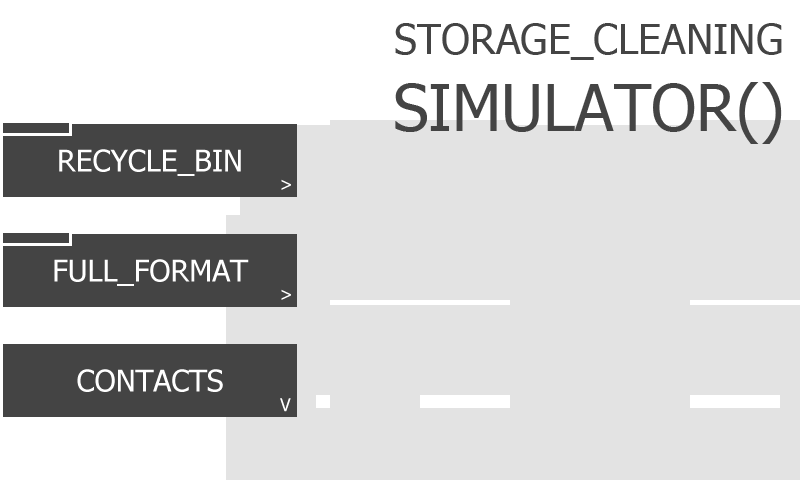 Storage Cleaning Simulator vous met à la place d'un compilateur informatique