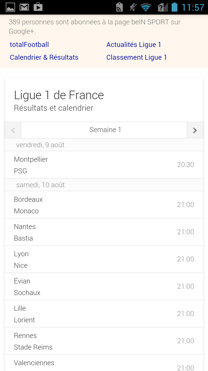 La Ligue 1 disponible sur Google Now
