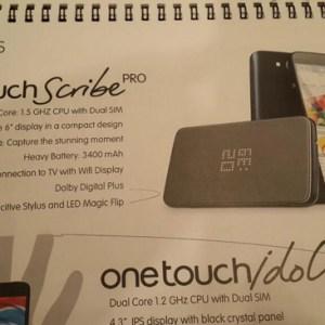 Un Alcatel One Touch Scribe Pro se prépare