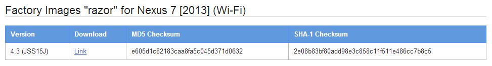 Google publie une image de restauration pour la Nouvelle Nexus 7 (2013)