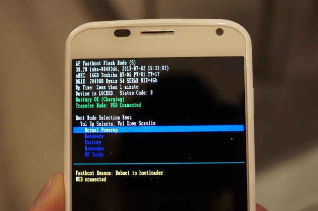 Motorola : le Moto X a un bootloader verrouillé
