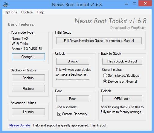 Nexus Root Toolkit : rootez facilement votre Nexus sur Android 4.3