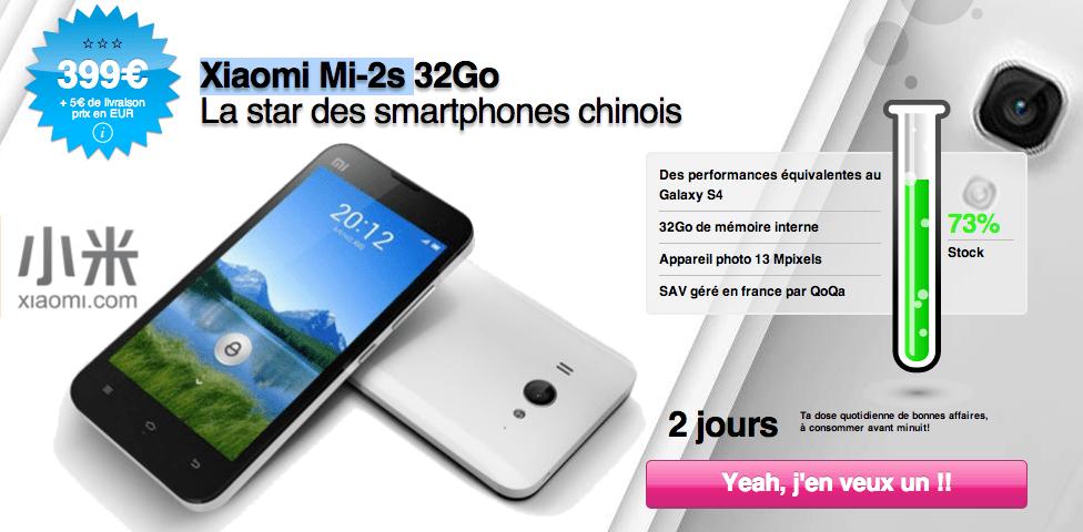 Xiaomi Mi2s en vente sur Qoqa