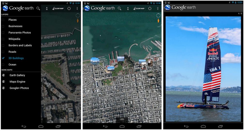 Google Earth permet d'afficher ses photos géolocalisées sur Google+