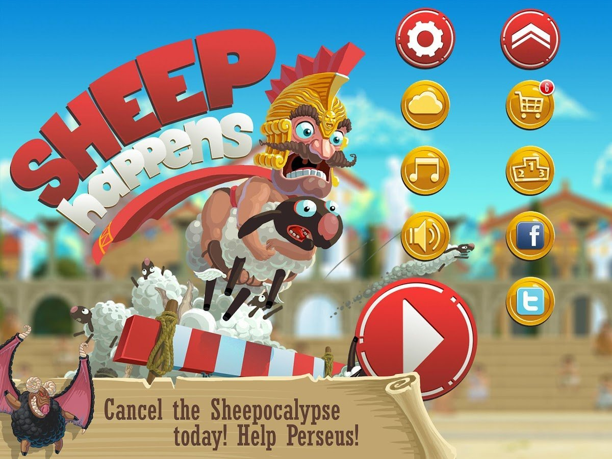 Sheep Happens, un runner antique déjanté par Kongregate