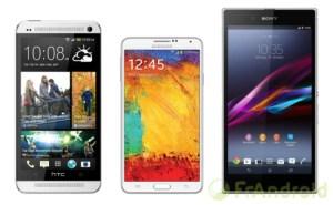 Comparatif : HTC One Max vs Galaxy Note 3 vs Xperia Z Ultra