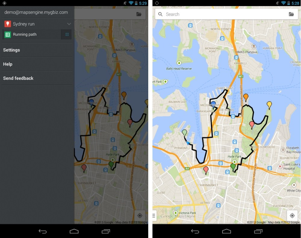 Google Maps Engine : profitez de vos cartes personnalisées sur Android