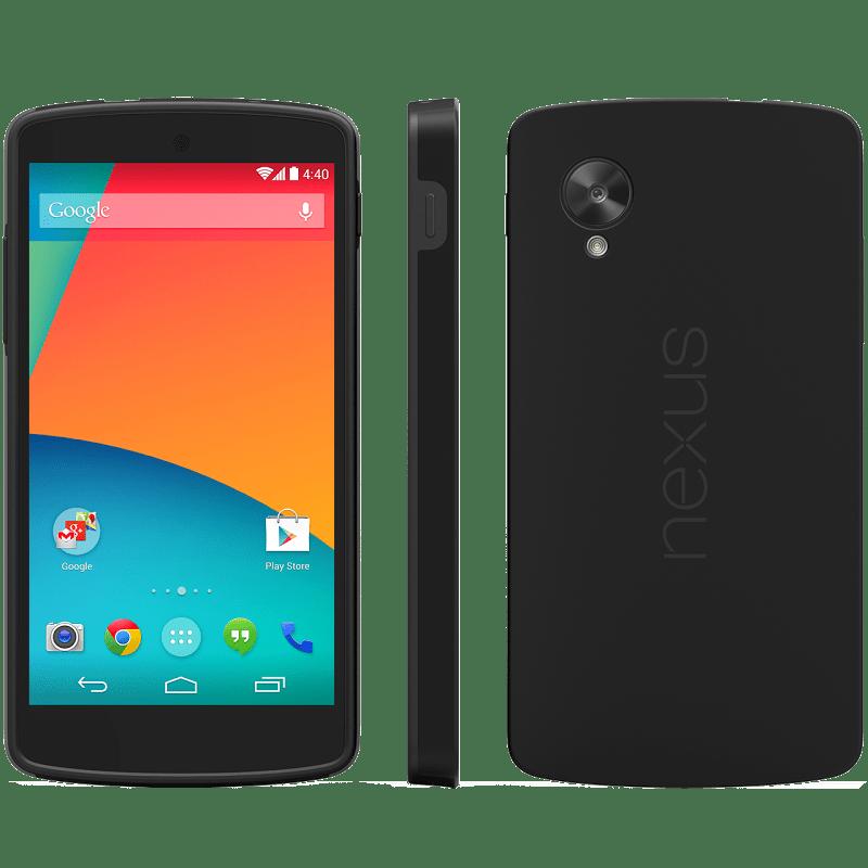 Accessoires du Google Nexus 5 : coque antichoc, étui LG QuickCover et station de recharge sans-fil