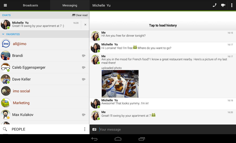 Imo Messenger est maintenant disponible en 30 langues sur Android