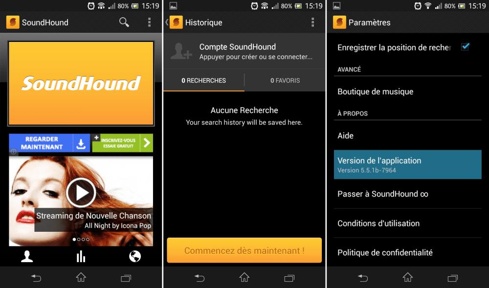 SoundHound : la création de compte s'invite sur la version 5.5.1