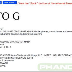 Motorola dépose la marque «Moto G»