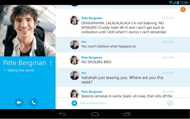 Skype : une nouvelle UI pour les tablettes et une qualité vidéo améliorée