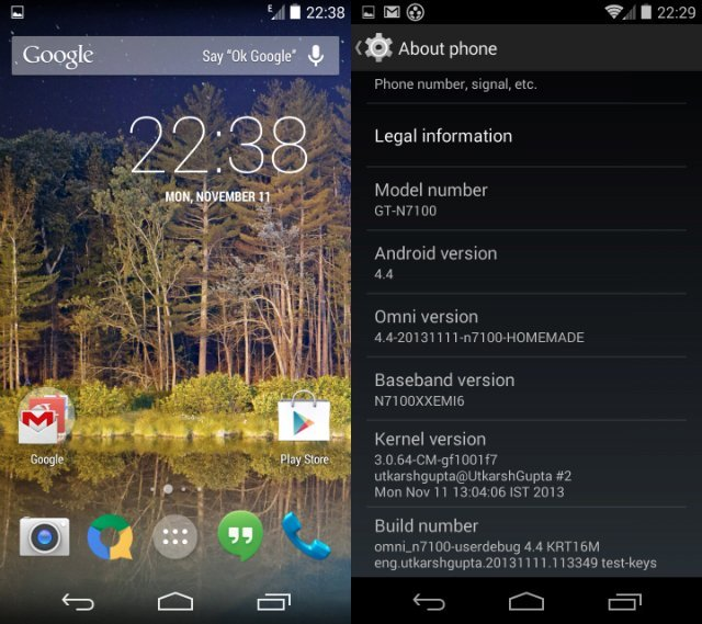 Android 4.4 KitKat arrive sur le Galaxy Note 2 (avec OmniROM) !