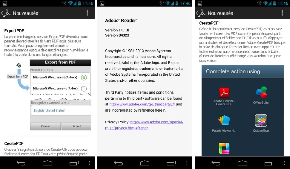 Adobe Reader 11.1.0, la mise à jour arrive sur le Play Store