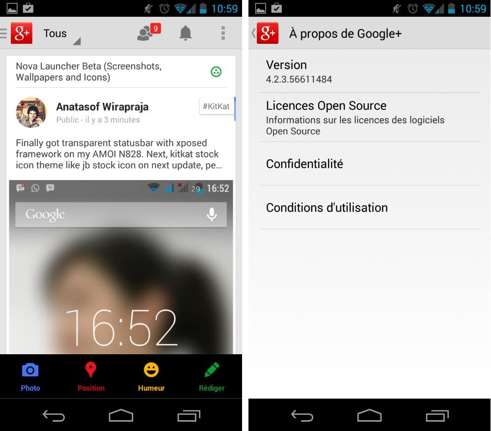 Google+, une mise à jour d'ergonomie est au rendez-vous sur Android