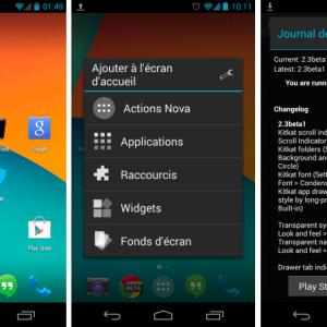 Nova Launcher Beta croque déjà dans Android KitKat